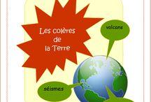 Les colères de la Terre / Lapbook sur les colères de la Terre, de l'Association Carpe Diem