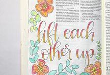 B I B L E   J O U R N A L I N G / This is for my Bible Journaling