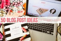 Blog Post Ideas / Sometimes you have a mental block or want to have new ideas for your blog, here I wanted to collate some great posts on just that!