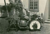 Vintage 1920-30's early Jazz Drum Kits