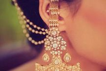 Earrings with lehenga