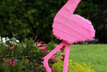 summer bbq flamingo