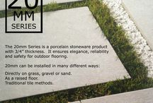 """20mm Series @ M&S Imports, Ltd. / The 20mm Series is a porcelain stoneware product with 3/4"""" thickness.  It ensures elegance, reliability and safety for outdoor flooring.    20mm can be installed in many different ways:  Directly on grass, gravel or sand. As a raised floor. Traditional tile methods."""