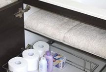 Bathroom Storage / Create clean functional storage inside bathrooms, allow full access to bathroom cabinets so you can easily sight all products stored. Work around tricky plumbing and sinks to increase usable space. www.tansel.com.au