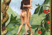VI The Lovers Tarot Card / A selection of tarot cards that represent The Lovers.