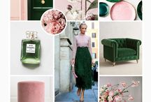blush and emerald