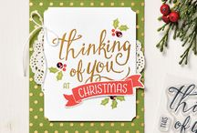 Stampin' Up! Christmas / Christmas creations using Stampin Up! supplies