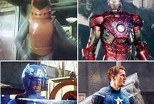 Haha / Look at the superheros