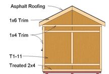 Garden Shed Plans / These pictures are all examples of our shed plans that we sell on our website, http://www.diy-plans.com
