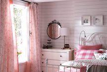 Cottage-Schlafzimmer