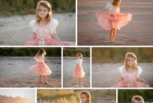 Beach Inspired Photo Ideas / inspirational beach photos featuring little girls all dressed up in Tutu Du Monde and other gorgeous dresses and boutique lines
