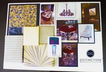 Distinction Moodboards / We use moodboards to communicate our expert design ideas, they're textured and colour co-ordinated ‪and a great illustration for clients to visualise their ‪#‎homemakeover‬!  Get in touch to start your bespoke interior design project. http://bit.ly/1SQQS9W