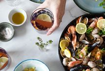 Food // Sea food / Healthy seafood inspiration.