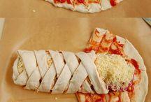zawijana pizza z ciasta francuskiego