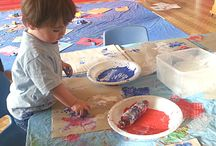 Toddler painting ideas! / Paint, printing, toddler art fun!