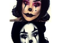 womens clown makeup