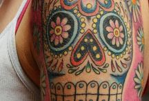 LOVE day of the dead!!!!!! Beautiful meaning: not just in memory of the dead but to celebrate life and not to fear death. Spiritual awakening / by Chantel Colby
