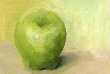 Trines Green appels / Her er mine oljemalerier av epler