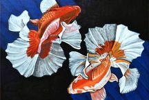 My art / I miei quadri ispirati agli animali e alla natura.