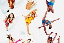 piruetas , baile , gimnasia ritmica...