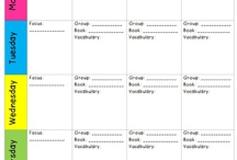 Guided reading records/task board
