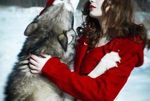 woman and wolfe