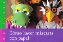 Carnaval e adereços / Máscaras de papel com moldes