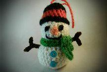 amigurumi snowman christmas tree ornament