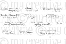 Classy & Fabulous / Inspiration for this stamp set!