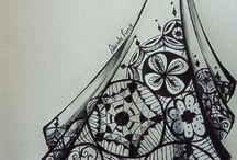 Kresba + zentangle