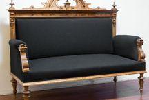 Antiikkisohvan väriserkut / Oman sohvan entisöintisuunnittelu