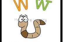 Alphabet Letter W / Activities for learning alphabet letter W in preschool