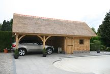 Carport/Garage / Project for thatched cottage on the lizard, Cornwall, UK