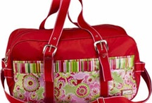 Pink Tote and Duffel Bags / Pink tote bags and duffel bags.
