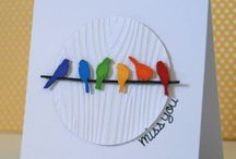 BIRD AND BIRDCAGES CARDS