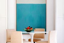 Painting + dinning table