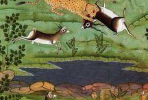 animaux autour d'un lac