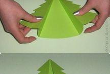 albero di natale con carta