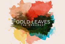Gold leaves the ornement