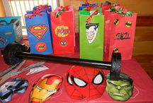 Super Hero Party / A mostly DIY, cheap Super Hero party for kids.