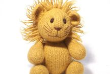 Lions / knitting patterns and  design ideas / by Claire Fairall Designs