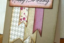 Scraps & paper banners card ideas / by Lisa Barton,