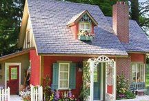 Real life houses for mini inspiration / Some of my best dollhouse ideas are combinations of architectural detail from real life houses.
