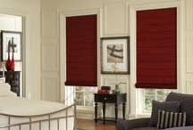 Roman Shades / Roman shades offer a unique tear drop look to your window or door. Roman shades are different from other window treatments in that the fabric stacks evenly up at the top of your window when you raise them. Blinds Chalet offers several great looking patterns and colors. Shop for your roman shades today at www.blindschalet.com / by Blinds Chalet