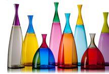 Murano glass jars