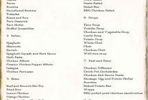 Meal ideas / Menus