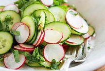 Salads / Both main dish and side dish salads.