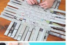 papierové prepletačky :-), škatuľky...