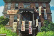 les maisons de studio Ghibli