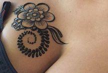 Henna on body